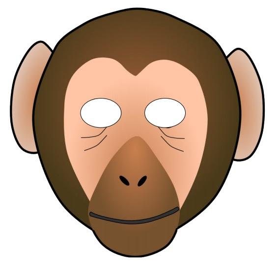 Kağıttan Maymun Maskesi