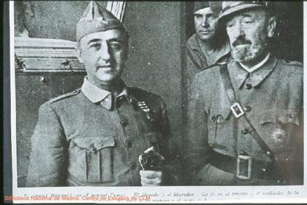 Varela y Franco tras la toma del Alcázar