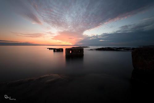 Arran Sunset - Ayrshire Coast Troon Beach by David Hannah