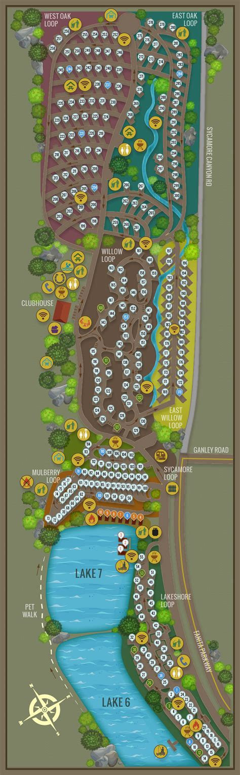 Campsite Map New   Santee Lakes
