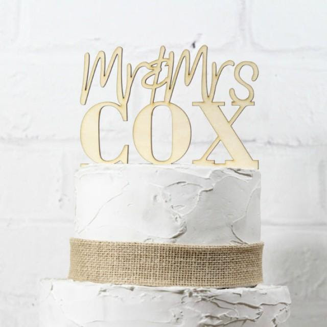 cake topper mrs custom rustic topper mrs mr sign  wedding  mr sign or  and and rustic