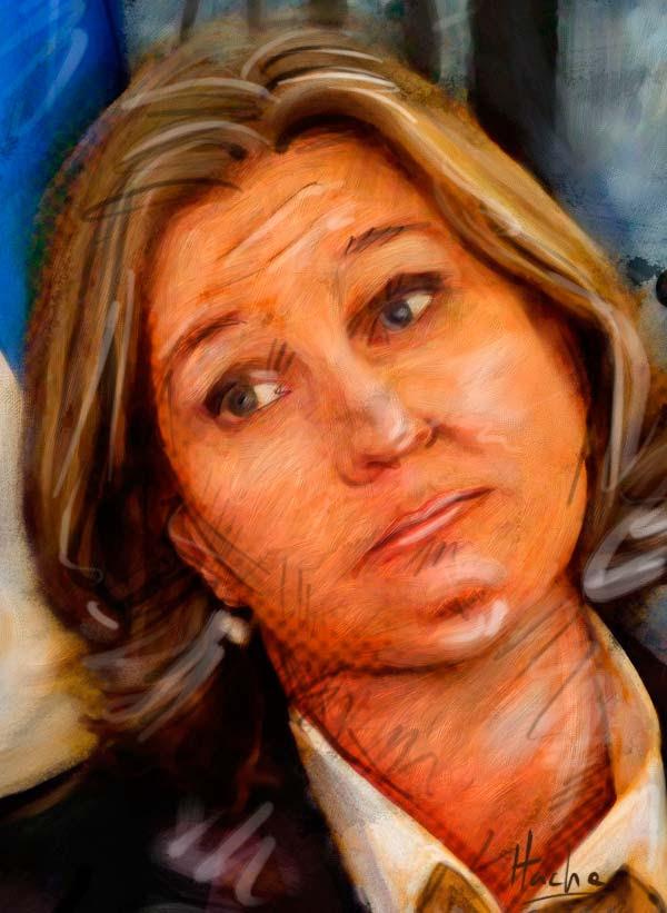 Retrato, Tzipi Livni por Hache Holguín