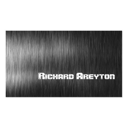Construction black grey metal custom business card template