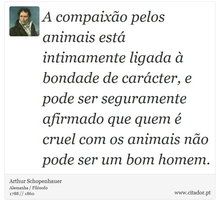 A Compaixão Pelos Animais Está Intimamente Lig Arthur