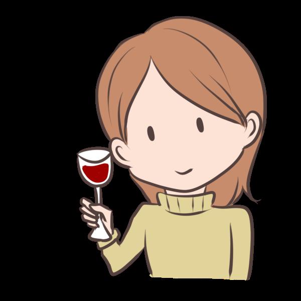 ワインで乾杯のイラスト かわいいフリー素材が無料のイラストレイン