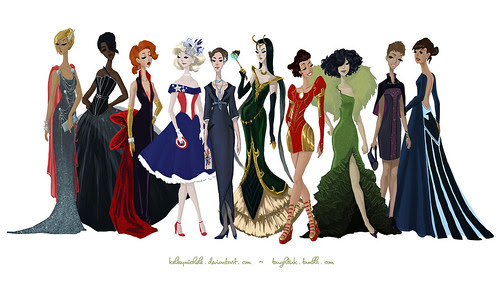 avengers gowns