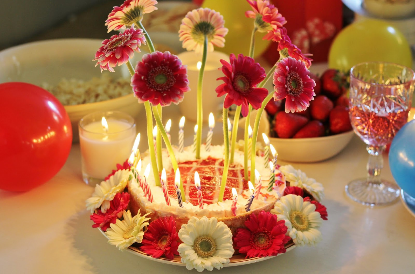 Birthday Wishes Images With Flowers And Cake Healthy