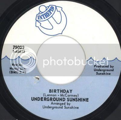 Underground Sunshine - Birthday