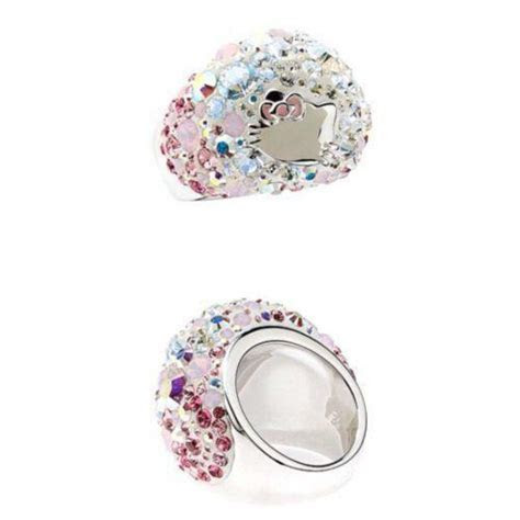 Hello Kitty Swarovski Ring   eBay