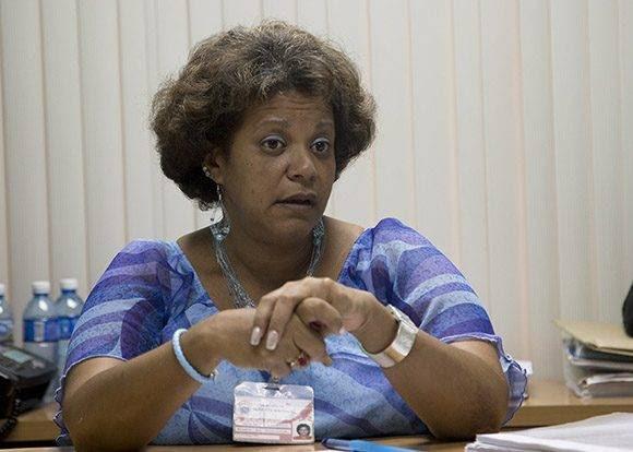 Milagro de la Caridad Pérez Caballero, miembro del Secretariado Nacional de la Central de Trabajadores de Cuba (CTC). Foto: Ismael Francisco/ Cubadebate.