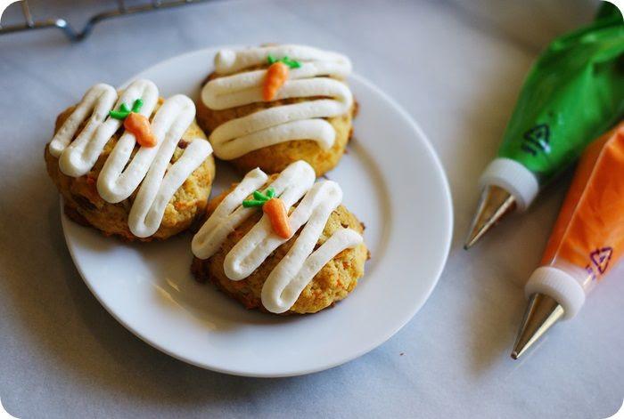 carrot cake cookies plate pastry bags photo carrotcakecookiesplatepastrybags.jpg