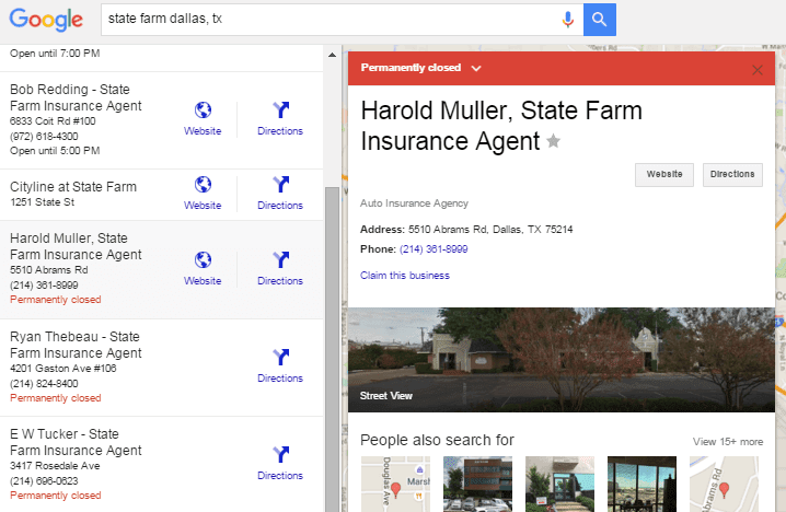 Google removes permanently closed listings