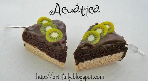 Pendientes kiwi