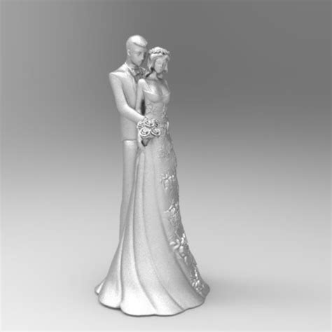 3D printer designs wedding cake topper 3 ? Cults