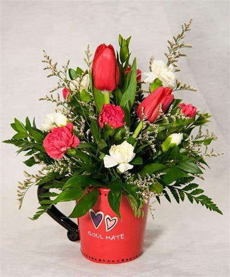 simple valentine floral arrangements   Google Search