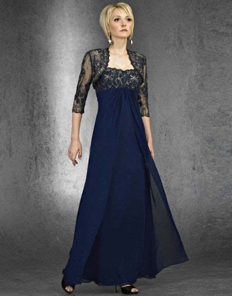 mother of the bride navy Blue dresses with cap sleeves