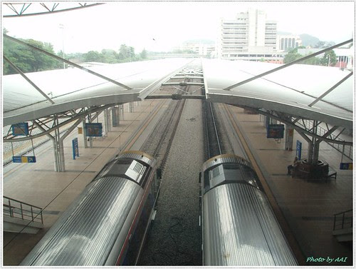 Aerial view of Ipoh rail tracks