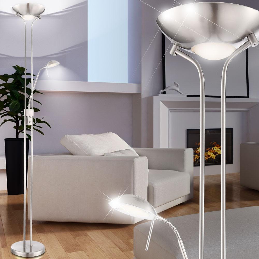 stehleuchten wohnzimmer lampe stehleuchte led ikea dimmbar