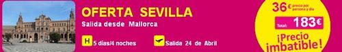 oferta vuelo+hotel Sevilla