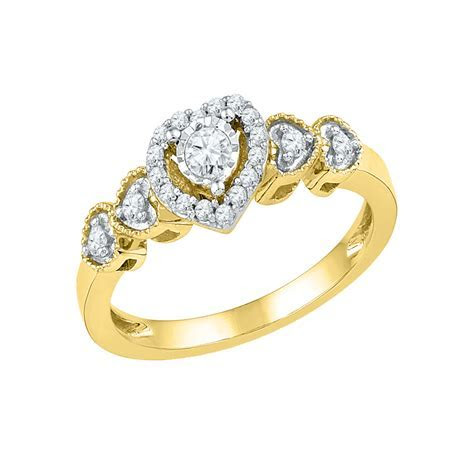Yellow Gold Heart Engagement Ring   Pueblo Jewelers