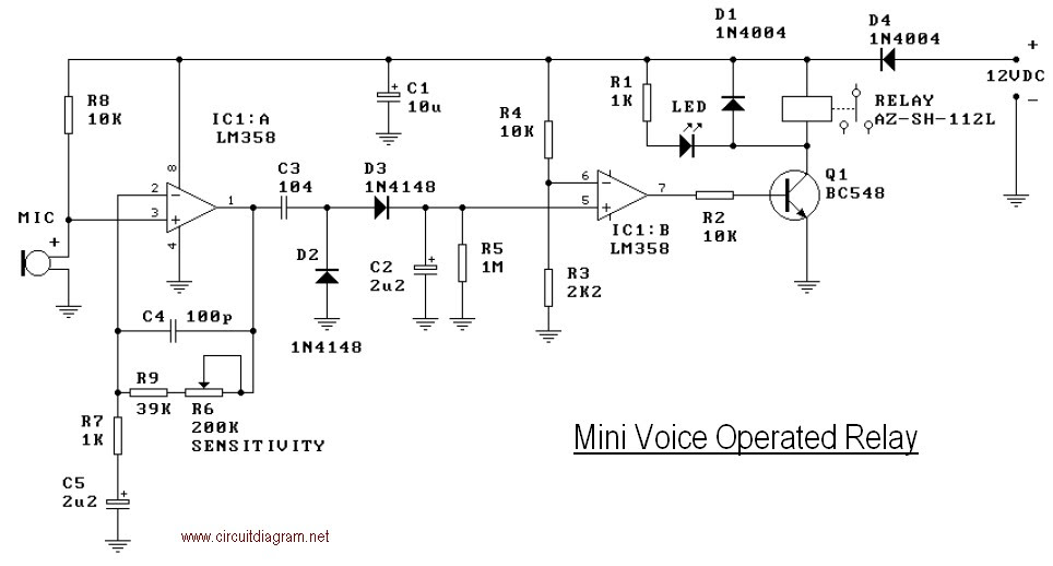 Soft Wiring  Voice Switch Circuit Diagram