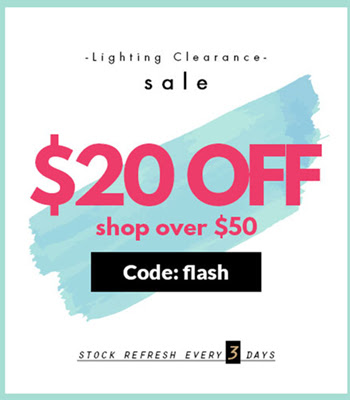 Clearance: $20 OFF $50+ with Coupon