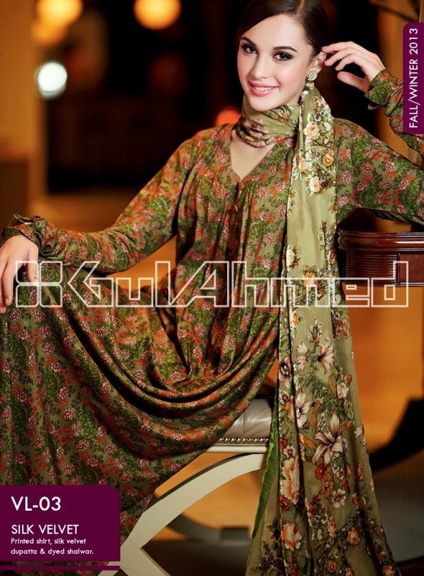 Beautiful-Cute-Girls-New-Fashionable-Dress-Design-by-Gul-Ahmed-Fall-Winter-Collection-2013-14-19