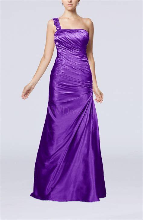 Dark Purple Gorgeous Column Sleeveless Zip up Silk Like