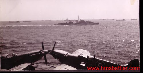 HMS Battler - Salerno - tank landing craft