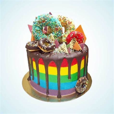Luxury Rainbow Cakes Delivered in London   Anges de Sucre
