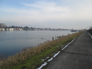 Columbia River, east of I-5