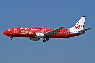 Virgin Express (Belgium) Boeing 737-43Q OO-VES (msn 28493) (Support Tsunami Victims) BRU (Arnd Wolf). Image: 903975.