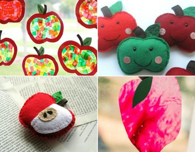 Apfel basteln für die Deko im Herbst mit diesen ...