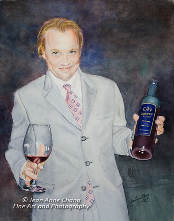Le Sommelier Watercolor Painting