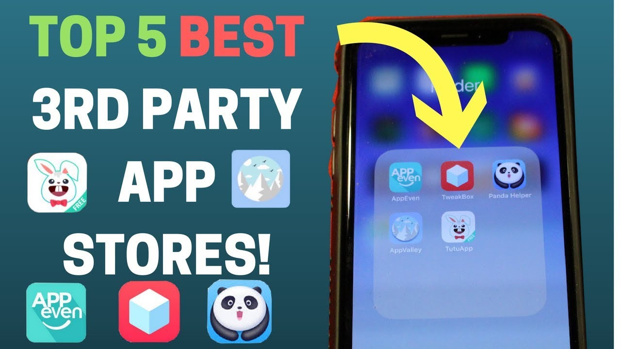 Top 5 BEST 3rd Party App Stores For iPhone/iOS! - Get Paid & Hacked Apps - Hackers Window