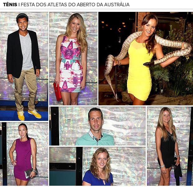 Galeria Festa dos atletas do Aberto da Austrália arte (Foto: Editoria de Arte / Globoesporte.com)