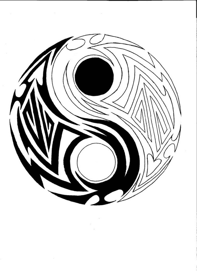 Yin Yang Drawing Designs at GetDrawings | Free download