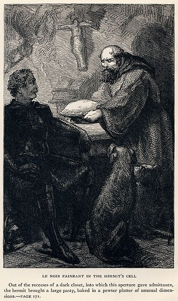 Fichier:J. Cooper, Sr. - Sir Walter Scott - Le Noir Faineant in the Hermit's Cell - Ivanhoe.jpg