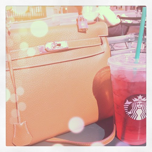 It's finally warm enough for iced passion tea