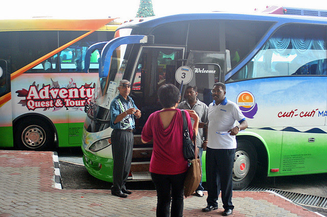 We boarded coaches like these to get to KL