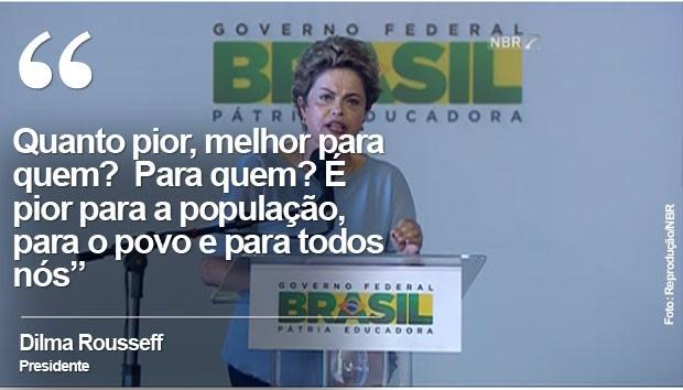 Trecho da fala de Dilma no Maranhão (Foto: Reprodução/NBR)