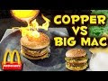 Pouring Molten Copper On A Big Mac - Video
