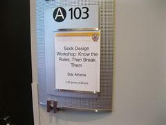 sock design workshop