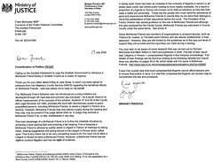 Ministry of Justice on McKenzie Friends for Scotland