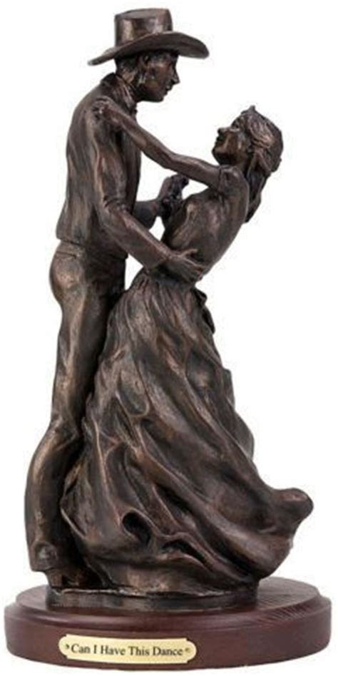 Can I Have This Dance Romatic Western Couple Sculpture