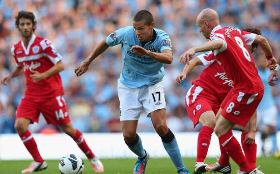 EPL - Manchester City v Queens Park Rangers, Jack Rodwell and  Andrew Johnson