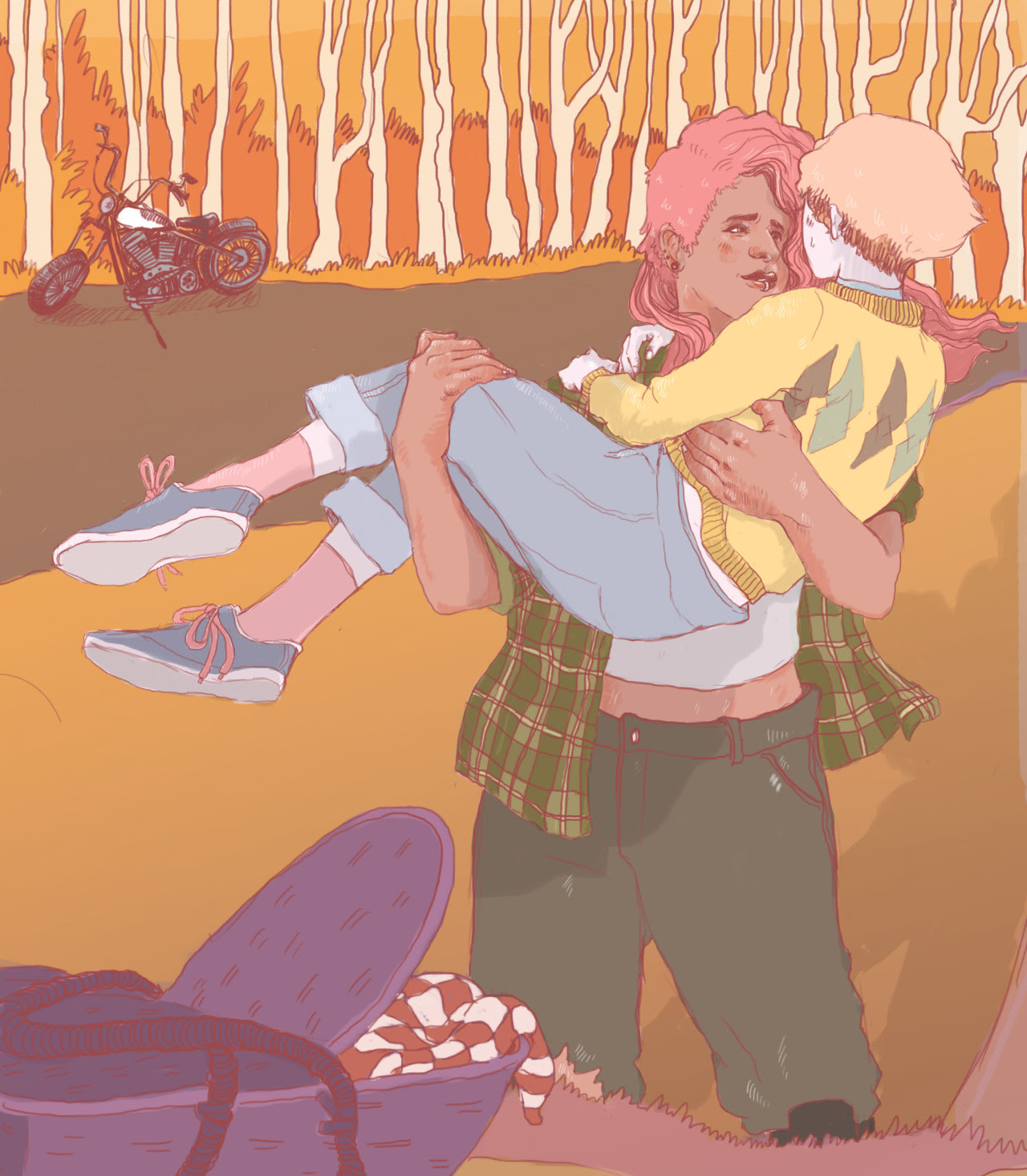 Pearl and mystery girl on a picnic date