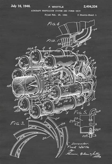 Frank Whittle's Jet Engine Design - Circa 1941 | WV