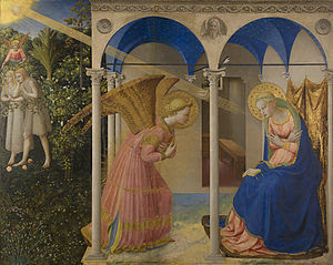 The Annunciation, 1430-1432, by Fra Angelico.