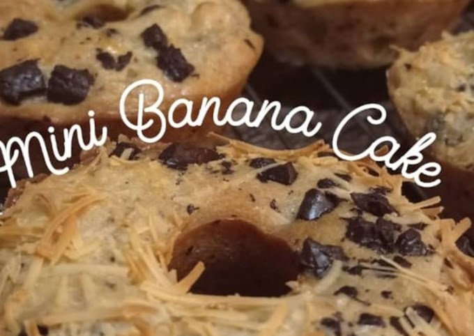 Resep Membuat Mini Banana Cake (no mixer) Lezat
